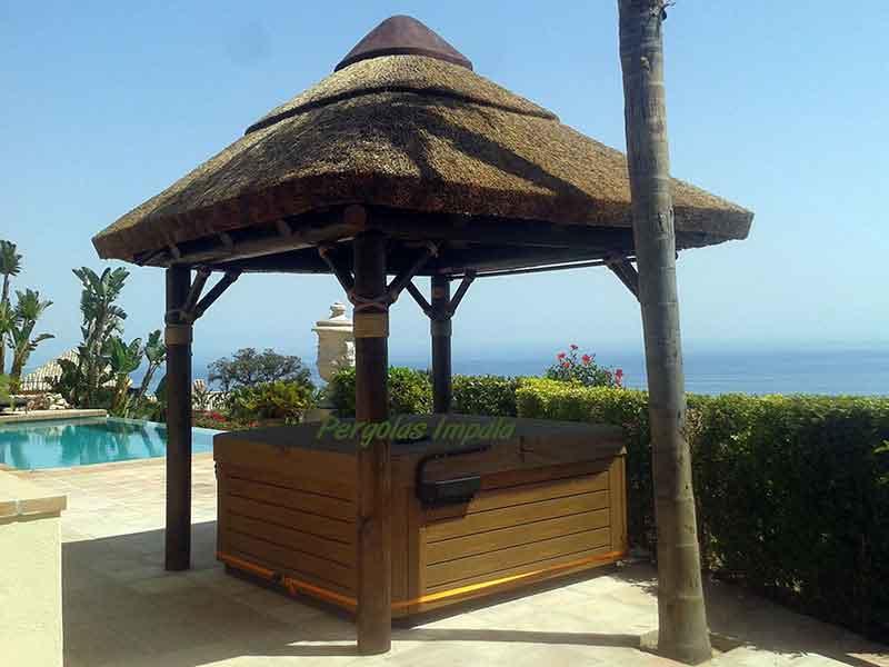 Pergolas Impala hot tub Parasol