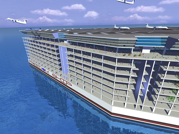 "perierga.gr - ""Το πλοίο της αγάπης"": Η πρώτη πλωτή πόλη στον κόσμο!"