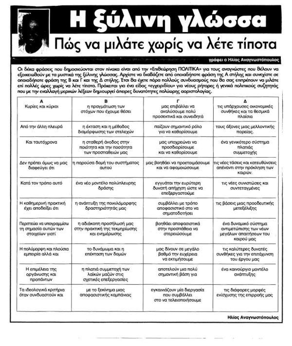 perierga.gr - Ξύλινη γλώσσα: Πώς να μιλάτε χωρίς να λέτε τίποτα!