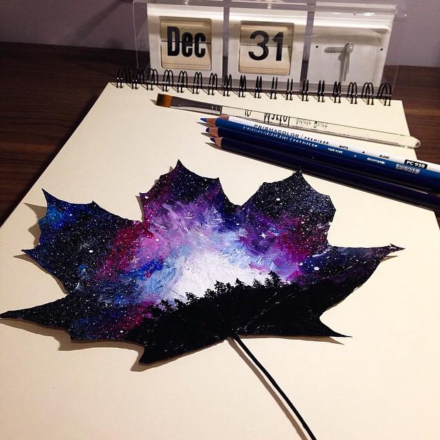 perierga.gr - Ζωγραφική πάνω σε φθινοπωρινά φύλλα!