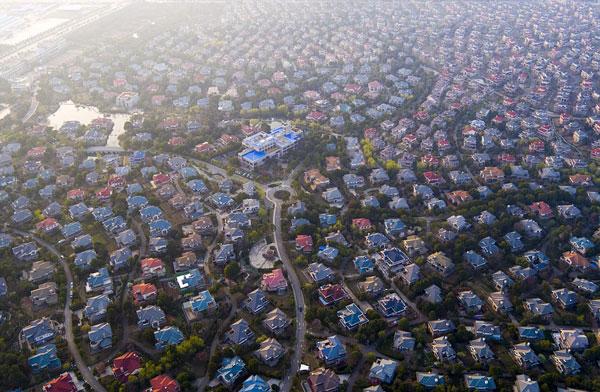 perierga.gr - Eναέριες φωτογραφίες από προάστια της Κίνας!