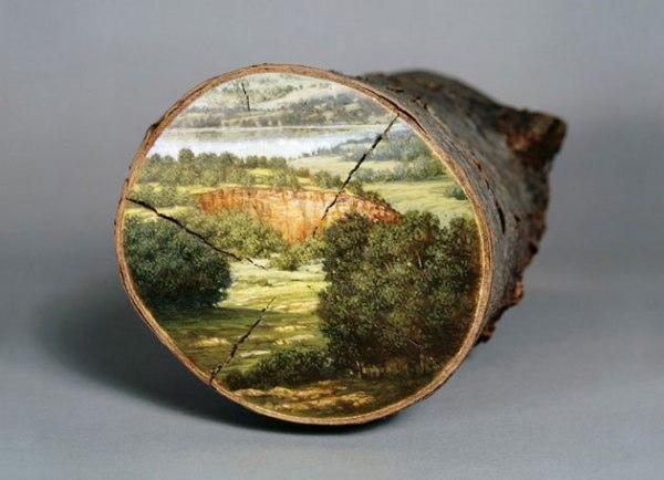 perierga.gr - Υπέροχη ζωγραφική σε κορμούς δέντρων!