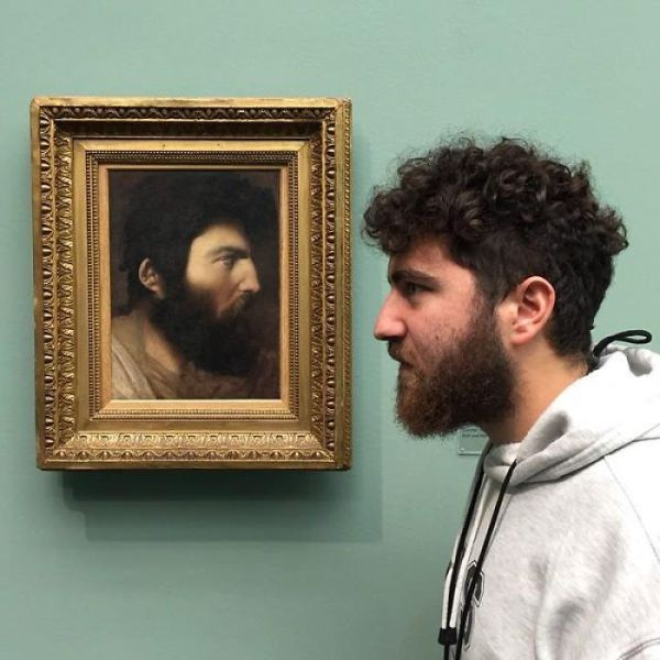 perierga.gr - Βρήκαν τον... δίδυμό τους σε πίνακα εποχής!