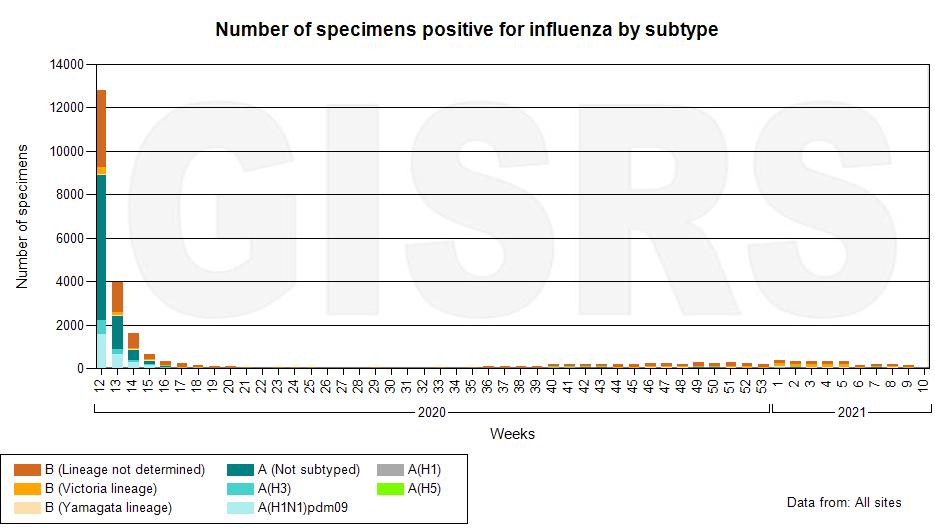 Incidencia gripe global - gripe ha desaparecido-no hay casos de gripe-que ha pasado con la gripe-coronavirus-pandemia-sars cov 2-por que las mascarillas han parado a la gripe y no al covid