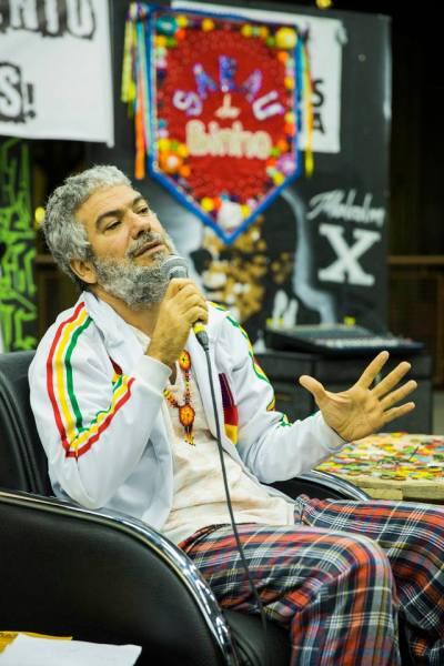 Binho, criador do Sarau que leva seu nome, na FELIZS de 2015