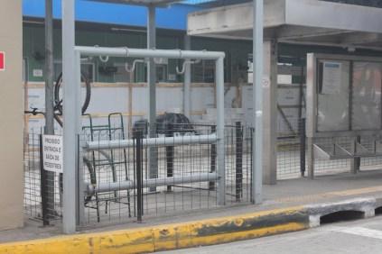 Bicicletário do Terminal Parelheiros: em obras (Foto: Matheus Oliveira/Periferia em Movimento)