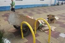 Paraciclo na praça de Parelheiros: multiuso (Foto: Matheus Oliveira/Periferia em Movimento)