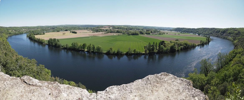 Photo panoramique du cingle de Trémolat - Gaby24, Tous droits réservés.