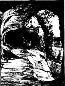Cluzeau de Roc de Tayac : gravure de Sabine Baring-Gould