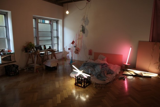 Image: Eugenia Lim, March2012. Photo documentation of Stay Home Sakoku: the Hikikomori Project installation at West Space ARI by Eugenia Lim.
