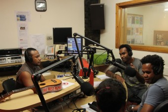 Voice of West Papua on 3CR, photo Jarni Blakkarly