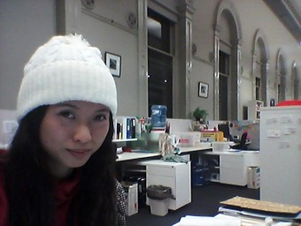 Wing Yi Chan, our new guest blogger looking very #melbournebrr at Writers Victoria