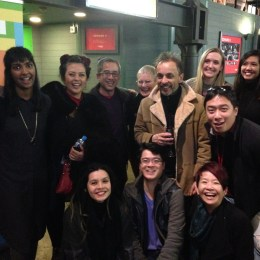 Lotus writers, dramaturge and cast after a very successful performed reading at the National Play Festival in July (Malthouse Theatre, Melbourne). Photo courtesy of Annette Shun Wah.
