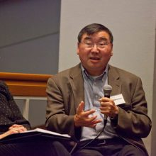 Don Nakanishi at the AASRN's 4th conference in Melbourne, 2011 (with Maria Vamvakinou, left). Photo by Mayu Kanamori - all rights reserved.