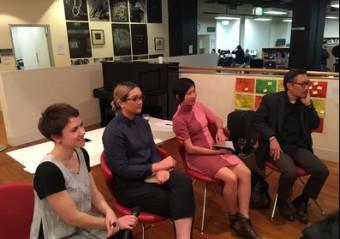 Talking About Translation panel. L-R: Nadia Rhook, Allison Chan, Rani Pramesti, John Young.
