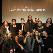 Artists at Cause & Effect. Image credit: Carnival of the Bold