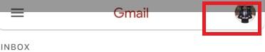 klik pada profil gmail