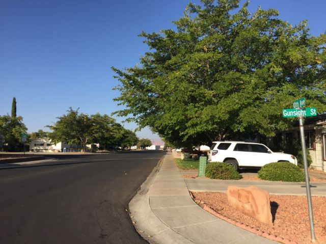 The corner of 10th Ave. and Gunsight St. in Page, Arizona, where Loren Reed was arrested June 2, 2020