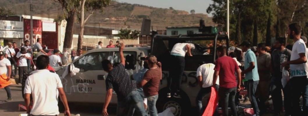 Protesta social contra la presencia de la Marina en el sur de Jalisco
