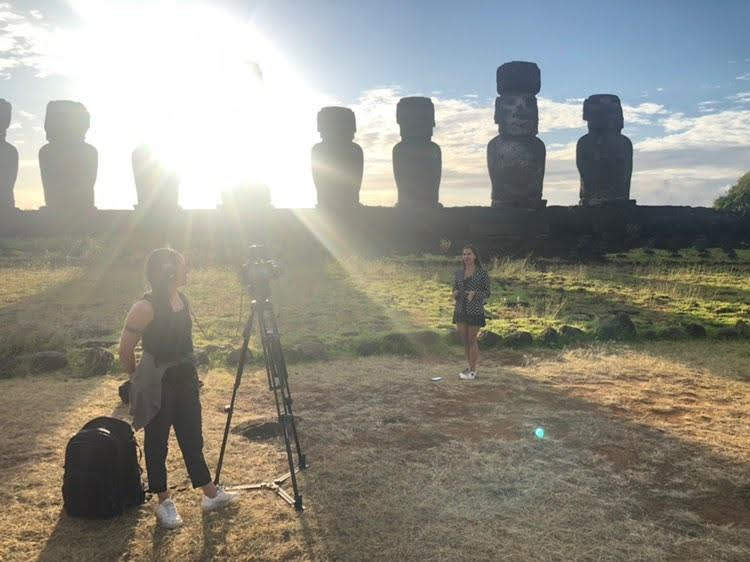 Valery Danko on Easter Island