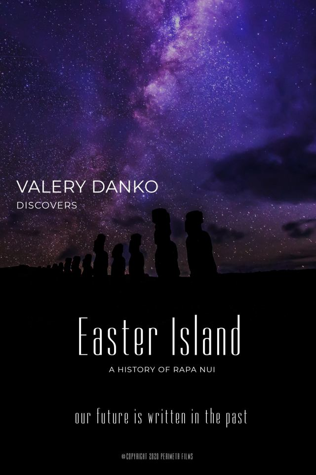 Valery Danko Discovers Easter Island Poster