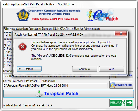 patch eSPT error