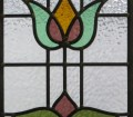 Floral Art Nouveau Stained Glass Panels From Period Home Style