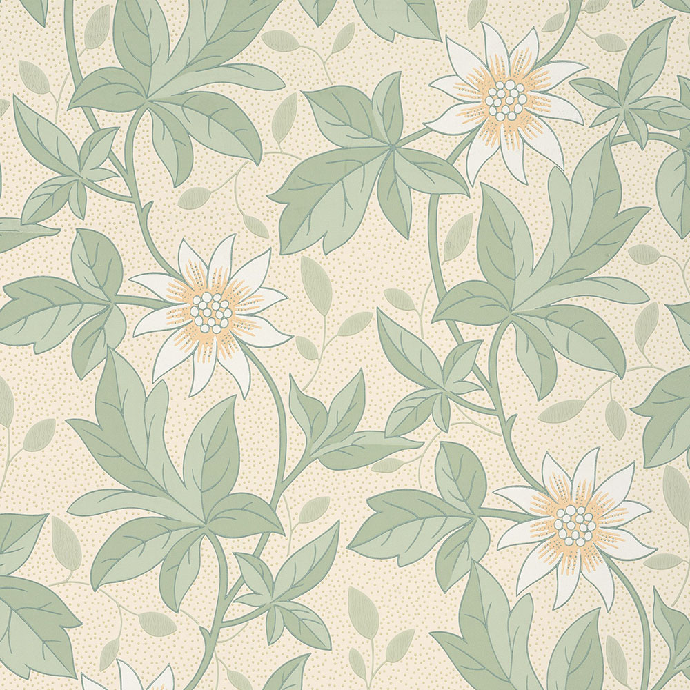 Little Greene Monroe Gold Flower Wallpaper Period Home Style