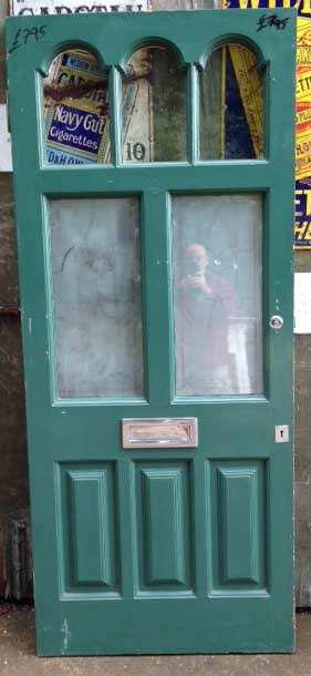 Green Victorian - Edwardian period door