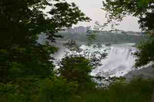 Niagara Falls with New York in the background.