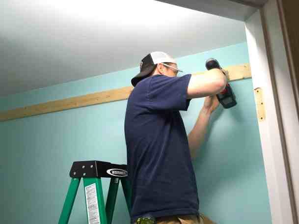 Mr. PC drilling board to wall
