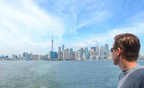 Mr. PC taking in Toronto views
