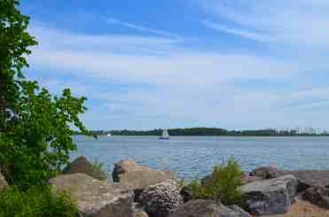 Lake Ontario beach view