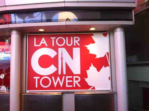 CN Tower sign