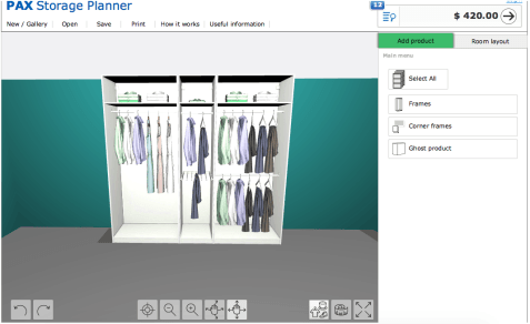 screen shot if IKEA planner