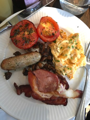 full English breakfast at one of London's restaurants
