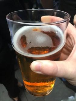 a golden beer