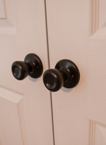 closeup of painted knobs