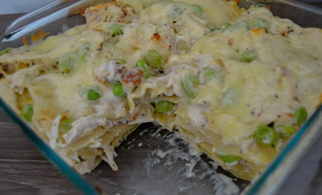 dish of chicken lasagna