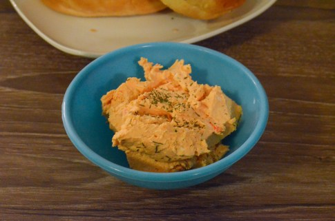 red pepper cream cheese with dill