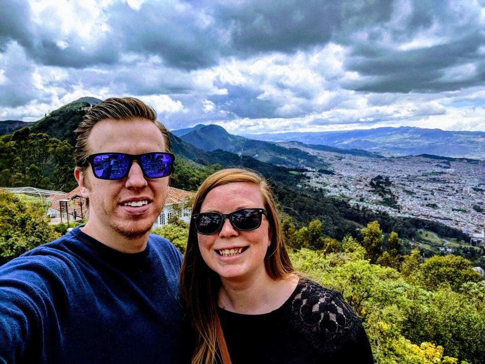 Casey & Mr. PC overlooking Bogota