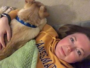 snuggling with Gimli