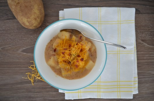 a comforting bowl of potato soup