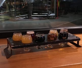 flight at Trophy Brewing
