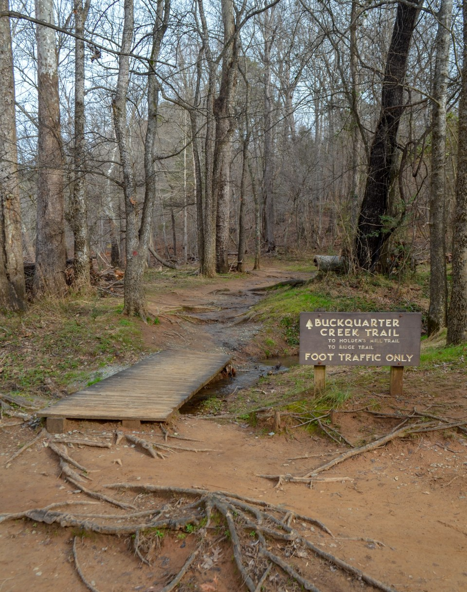 Buckquarter Creek Trail sign