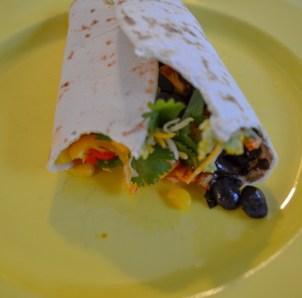 irresistible vegetarian burrito