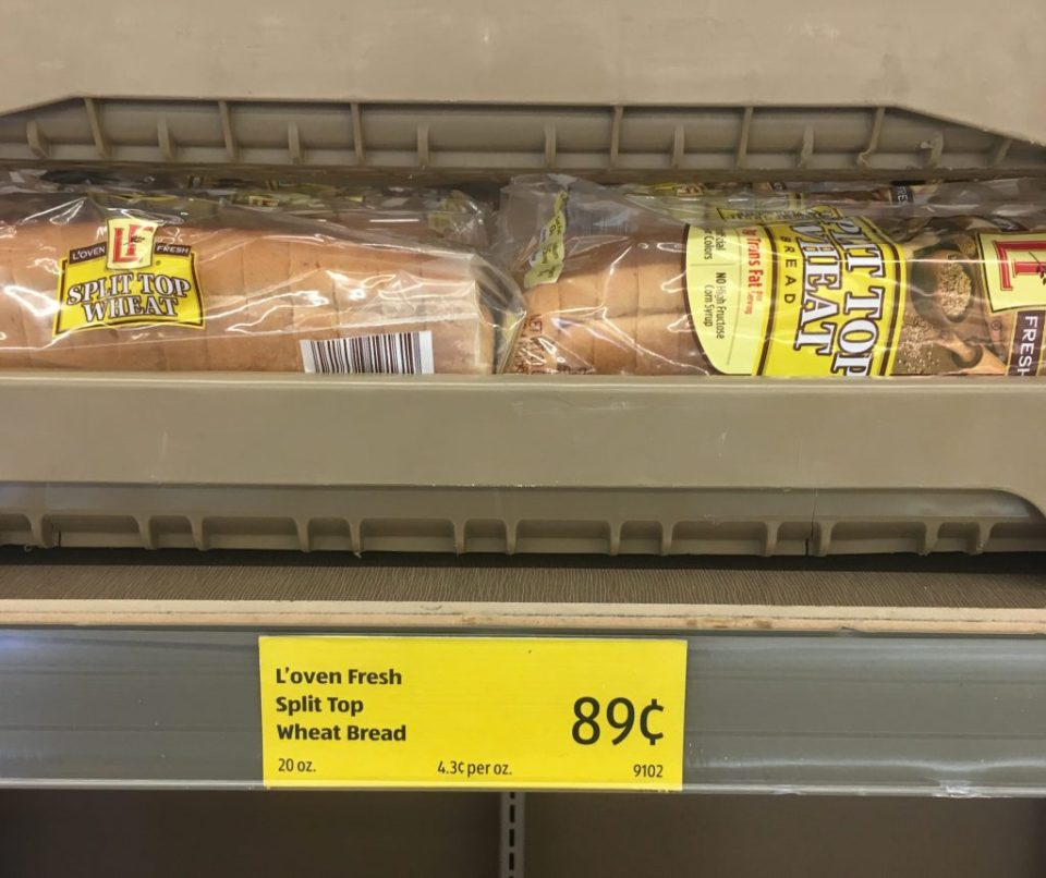cheap bread at Aldi