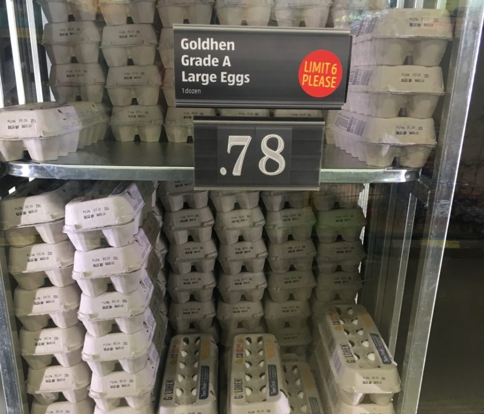 Eggs are a good deal at Aldi