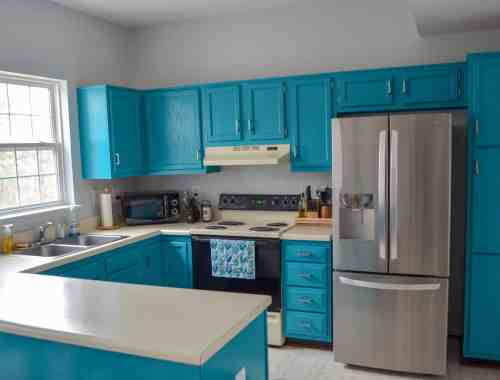 freshly painted kitchen cabinets
