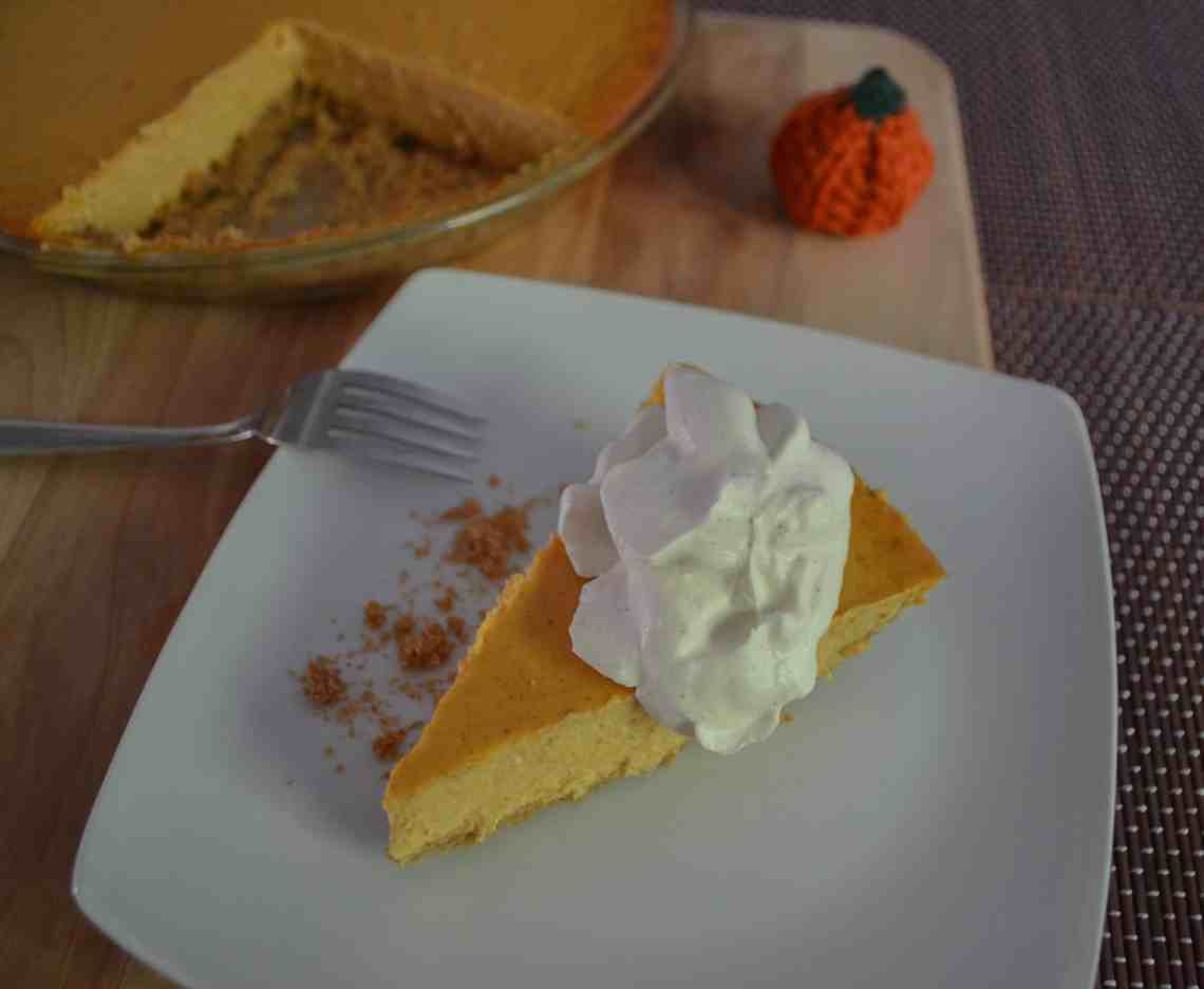 pumpkin cheesecake with a decadent whipped cream